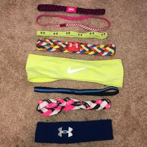 ASSORTED NIKE AND UNDER ARMOUR HEADBANDS